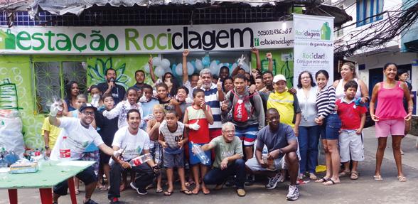 Inauguração do projeto Estação Rociclagem, na Rocinha